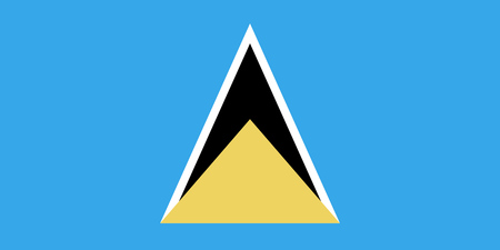 saint lucia: The national flag of the country of Saint Lucia