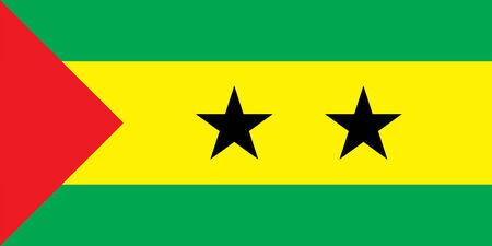 principe: La bandera nacional del pa�s de Santo Tom� y Pr�ncipe Foto de archivo
