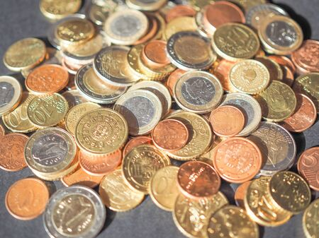 euro coins: Euro coins money currency of the European Union