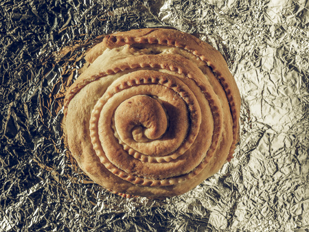faded: Vintage faded Italian pastry biscuit pie food