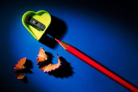 Sharpener for pencils in the form of heart Stock Photo - 711784