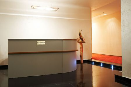 vacate: Reception in a hall to modern hotel Stock Photo