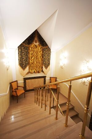Stairs with a handrail in magnificent hotel Stock Photo - 733565