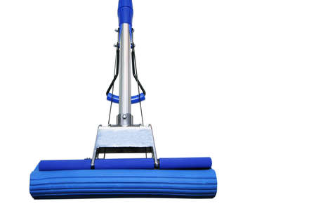 Dark blue mop for washing floors on a white background Stock Photo - 793574