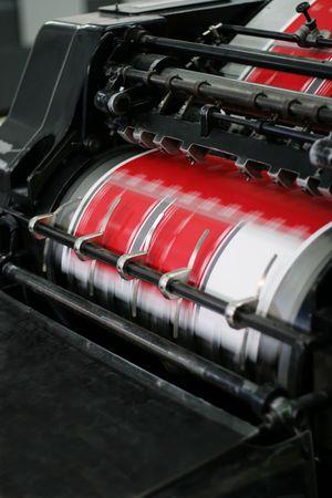 imprenta: El equipo poligr�ficas en la moderna casa de un comunicado de prensa