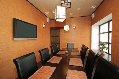 VIP a hall at new Japanese restaurant Stock Photo - 841875