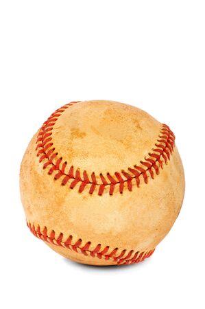 New baseball ball on a white background photo