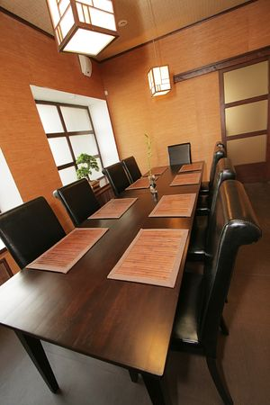 VIP a hall at new Japanese restaurant Stock Photo - 852696