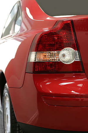 Dimensional lanterns of the red modern car photo