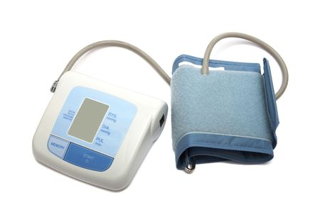 digital blood pressure monitor on a white background Stock Photo - 883869