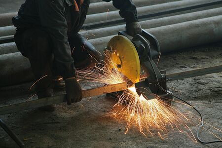 Processing of metal at a modern factory photo
