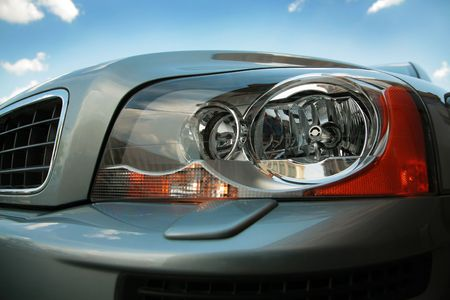 sidelight: Headlight of the modern car close up Stock Photo