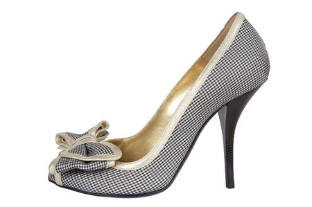 court shoes on a high heel on a white background photo
