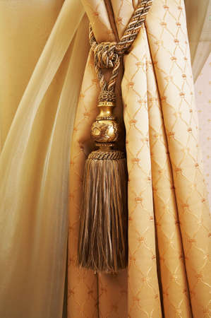 gauzy: Curtains with ornaments in the modern house