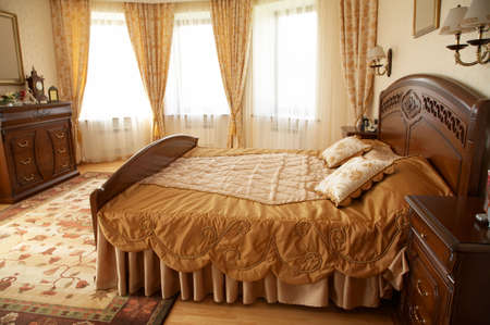 beautiful bed: Beautiful bed with two pillows