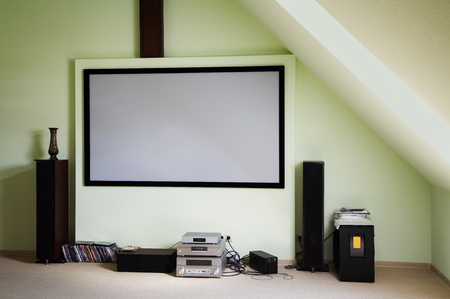 dolby: Modern house cinema in the new house Stock Photo
