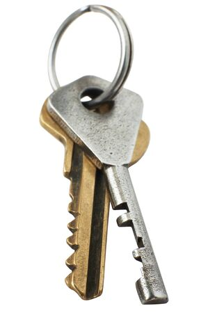 Two metal keys on a white background Stock Photo - 1431835