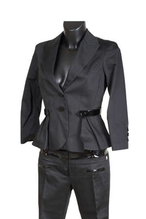 trouser: Female trouser suit on a white background Stock Photo