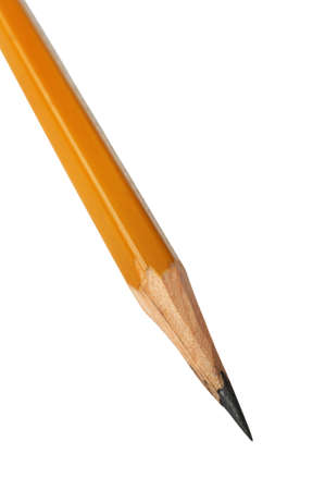 sharply: Sharply perfected pencil on a white background