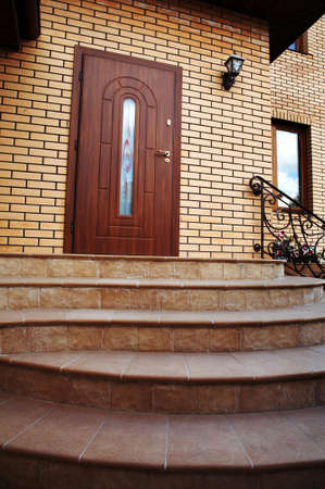 Input in a cottage with a staircase Stock Photo - 1585690