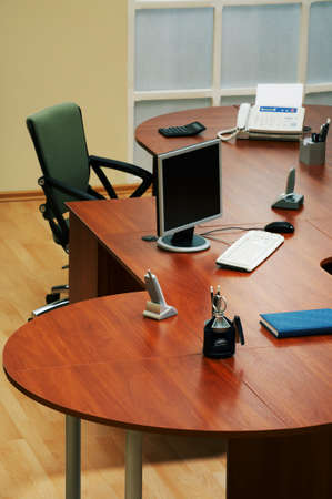 Fax and computer on a table at modern office Stock Photo - 2230509