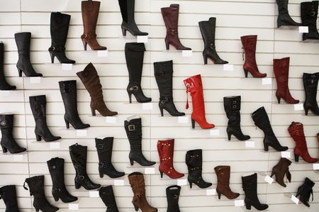 shoe store: Sales of fashionable footwear in shoe store