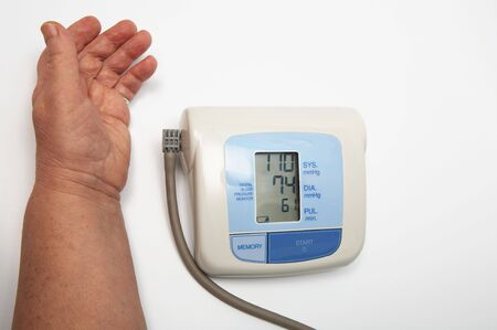 Hand and the medical device for measurement of pressure Stock Photo - 2370540