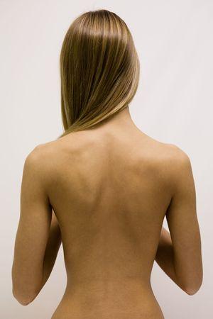 La chica con la espalda y el pelo largo Foto de archivo - 2498024