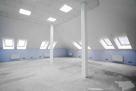 Greater room of modern under construction office Stock Photo - 2512562