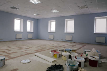 Paint on construction new and modern office Stock Photo - 2567481