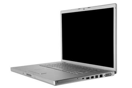 Modern and stylish laptop on a white background photo