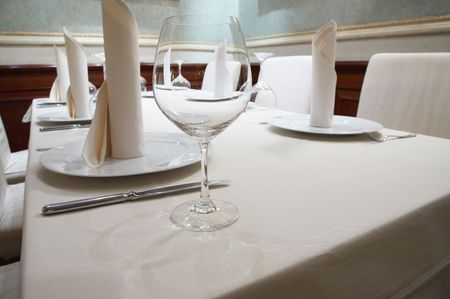 Beautiful glass on a table at restaurant Stock Photo - 2630405