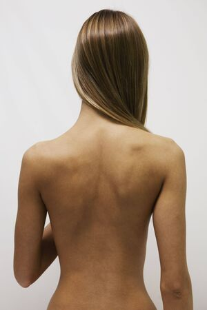 The girl with the  back and long hair