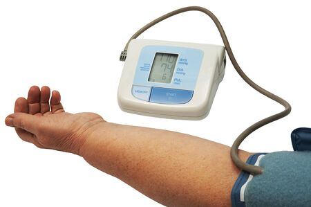 digital blood pressure monitor on a white background Stock Photo - 2701805