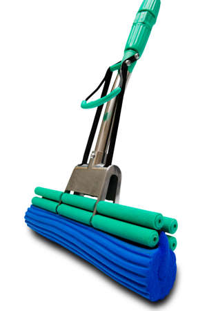modern mop for washing floors on a white background Stock Photo - 2830682