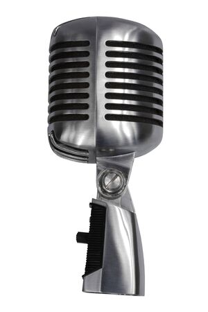 Beautiful old microphone on a white background Stock Photo - 2939086