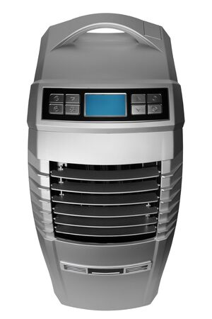 The modern mobile air-conditioner on a white background photo