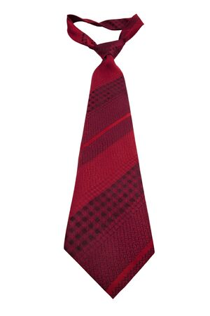 elastic garments: Fashionable striped necktie on a white background