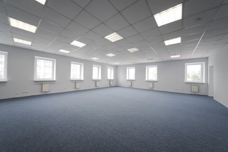 Greater room of modern under construction office Stock Photo - 3088821