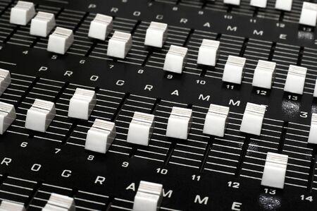 radio unit: Control panel in a audio recording studio