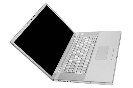 Modern and stylish laptop on a white background photo