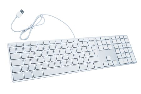 The modern and stylish keyboard for a computer photo