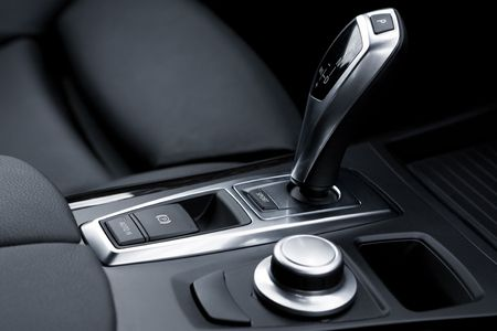 The gear-change lever in the modern car Stock Photo - 3496026