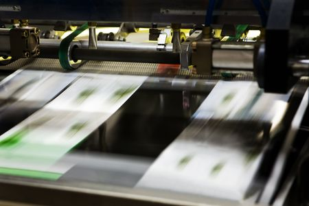 imprenta: Proceso poligr�fico en una imprenta moderna