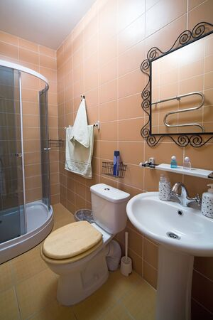 Bathroom with a shower cubicle in flat Stock Photo - 3883611