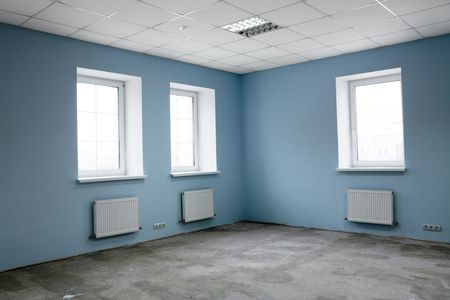Greater room of modern under construction office Stock Photo - 3906169