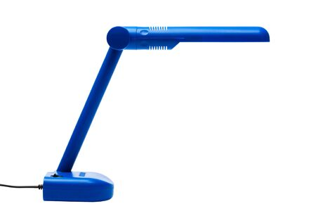 blue modern lamp on a white background photo