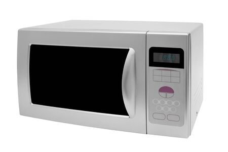 defrost: Modern microwave stove on a white background