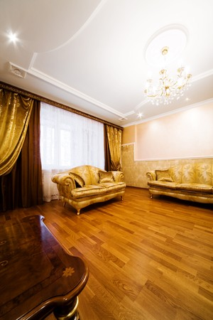 divan: Beautiful divan in a room to rich flat Stock Photo