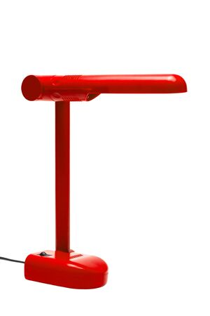 red modern lamp on a white background photo